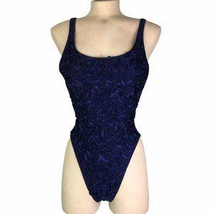 LA BLANCA Royal Blue One Piece Bathing Suit Size 8